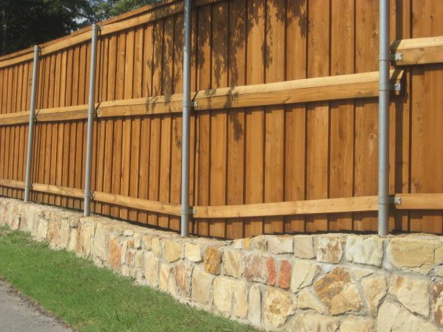 wood and stone fence designs | Brick:wood fence 4 | Fences ...  |Stone And Wood Fence